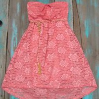 Lace Coral Dress | Elusive Cowgirl