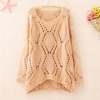 Over Size Knit Sweater for Women (Pink)