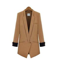 Brown Blazer in Longline with Twin Jet Pockets for Men and Women