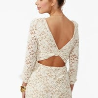 Lace Cutout Romper in  Clothes Bottoms at Nasty Gal