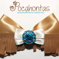 Pocahontas Hair Bow by MickeyWaffles on Etsy