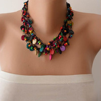 Colorful Necklace with Wooden Beads- Speacial Design