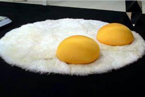 Egg Rug, Over Easy | The Worley Gig
