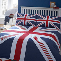 Blue 'Union Jack' bed linen at debenhams.com