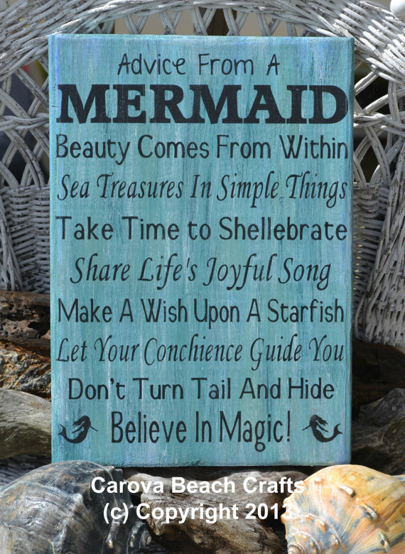 Beach Decor Beach Sign Mermaid From Signs Of Love Carova