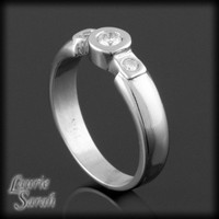 20% OFF WAS 940.50 - 14kt White Gold 3 Stone Diamond Ring - LS858 | LaurieSarahDesigns - Jewelry on ArtFire