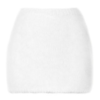 White Angora Mini Skirt by Rodarte - Moda Operandi