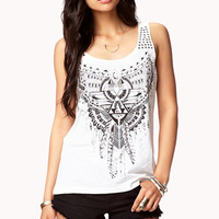 Tribal-Inspired Rhinestoned Tank
