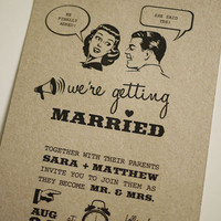 1950's Retro - Wedding Invitation (PRINTABLE) on Luulla