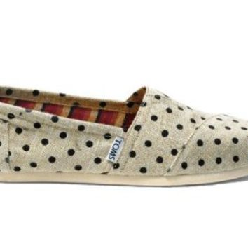 Toms Natural Hemp Polka Dots Women's Clsc Alprg 10000418