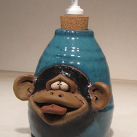 Sassy Monkey  ...  Soft Soap or Lotion bottle                  e336