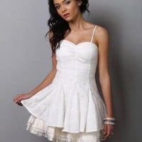Swan Lake White Dress - Lace Dress - $82.00