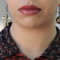 Traveler Earring by SanazKhosravi on Etsy