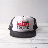 Vintage Lift Truck Inc trucker hat by prettylilpieces on Etsy