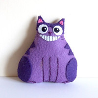 Cheshire cat fat cat plushie by yael360 on Etsy