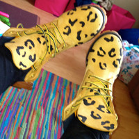 Prices Vary // Leopard Print Timberlands by est101093 on Etsy
