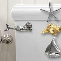 Nautical Luxuries Coastal Decor & Gifts - Coastal Themed Metal Toilet Handles