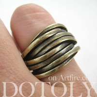 Woven Spoon Ring in Bronze - Sizes 5 to 7 Available | dotoly - Jewelry on ArtFire