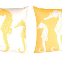Climaweave Seahorse Reversible Pillow