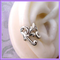 Empire silver ear cuff earring RIGHT earcuff for by RingRingRing