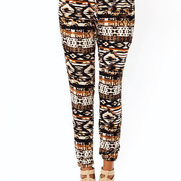 Tribal-Vision-Lounge-Pants BROWNMULTI - GoJane.com