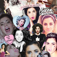 Marina and The Diamonds collage Art Print by Alexander Scott
