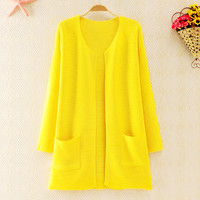 forever2you — Candy Color Knited Jacket for Women