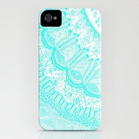 Doodle Madness AQUA iPhone Case by Kayla Gordon | Society6