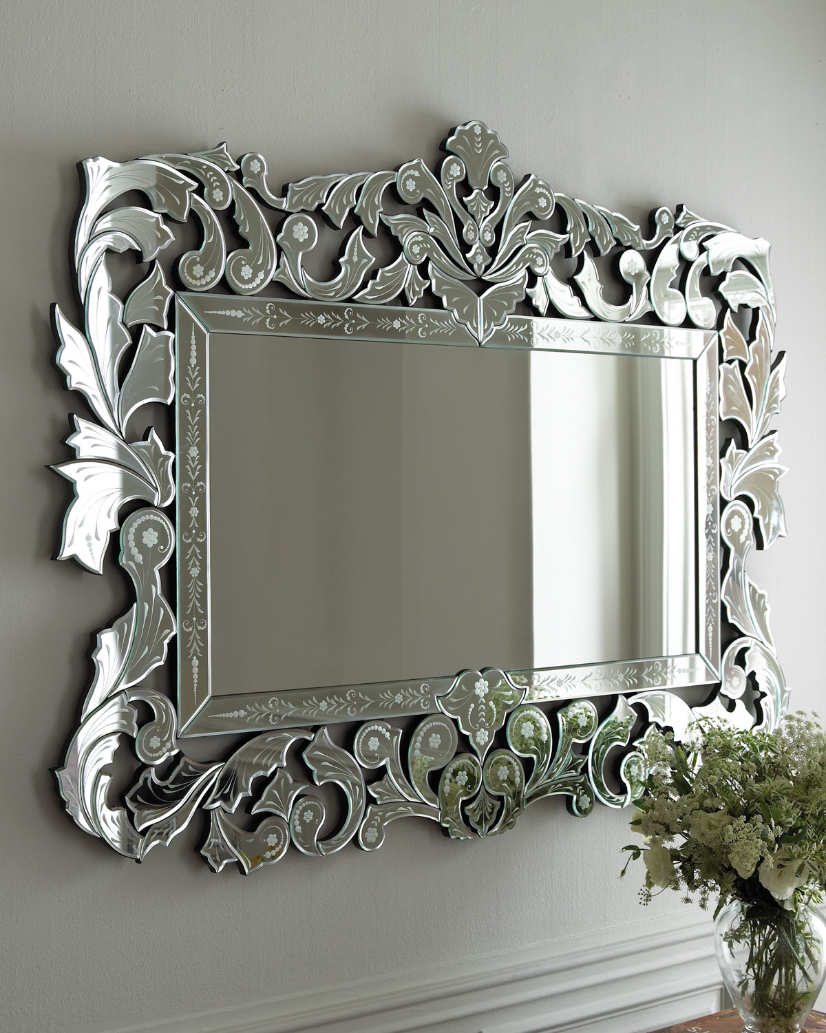 Giorgia venetian style mirror from horchow epic wishlist - Fancy wall designs ...