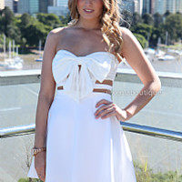 BOW CAGE DRESS , DRESSES, TOPS, BOTTOMS, JACKETS & JUMPERS, ACCESSORIES, SALE, PRE ORDER, NEW ARRIVALS, PLAYSUIT, COLOUR, Australia, Queensland, Brisbane