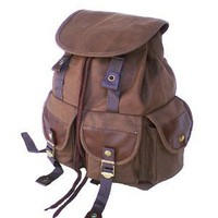 Amazon.com: Military Inspired Stylish Backpack Canvas Day Pack Brown: Sports & Outdoors