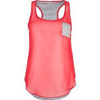 FULL TILT Essential Woven Front Womens Tank