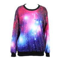 Digital Galaxy Print Leisure Sweatshirt for Girls