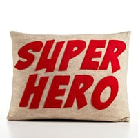 Super Hero oatmeal red recycled felt by alexandraferguson on Etsy