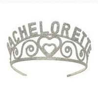 Glittered Bachelorette Tiara Party Accessory (1 count) (1/Pkg):Amazon:Home & Kitchen