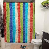 Beach Stripes Shower Curtain