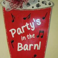 Red Solo Cup Wood Door Hanger Party Decoration
