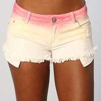 Reverse The Tie Dye Jean Short in Pink