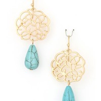 Metal & Stone Earrings - Kely Clothing