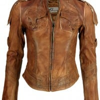 Brown Washed Leather Jacket