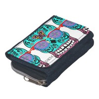 sugar skull hipsta fashion purse  wallet #3