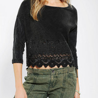 Urban Outfitters - Ecote Boho-Trim Cropped Top
