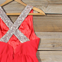 Sparkling Shadows Dress in Red