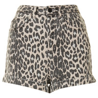 MOTO Leopard Print High Waisted Shorts - Topshop USA