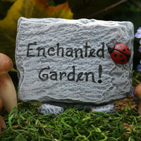 Fairy Garden Sign Custom Fairy House Sign For Your by PhenomeGNOME