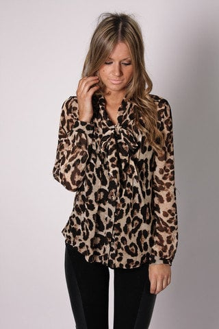 Esther Boutique - jerry leopard shirt