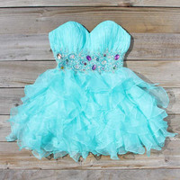 Spool Couture Mint & Chiffon Dress