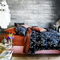 Matchstick (Black) Quilt Cover | Kip & Co