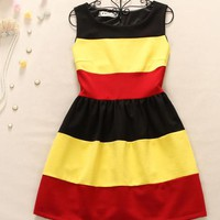 Elegant grain colorful dress