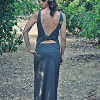 Open back maxi dress, Convertible backless dress, Olive green maxi dress
